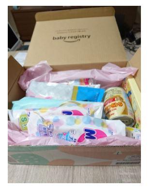 Amazon childbirth trial box contents